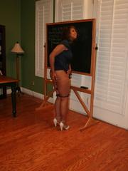 Randy brunette ebony teacher gets her lusciously - XXXonXXX - Pic 1