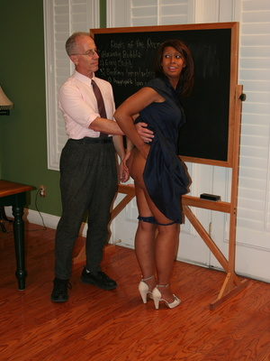 Randy brunette ebony teacher gets her lusciously big ass spanked by her boss. - XXXonXXX - Pic 4