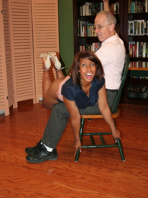 Randy brunette ebony teacher gets her lusciously big ass spanked by her boss. - XXXonXXX - Pic 9