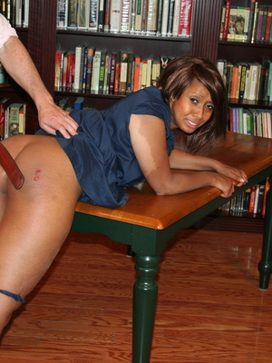 Randy brunette ebony teacher gets her lusciously big ass spanked by her boss. - XXXonXXX - Pic 14
