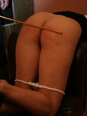Flashy blonde student gets her tasty ass spanked - XXXonXXX - Pic 1