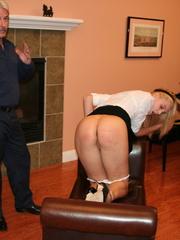 Flashy blonde student gets her tasty ass spanked - XXXonXXX - Pic 3