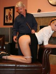 Flashy blonde student gets her tasty ass spanked - XXXonXXX - Pic 5