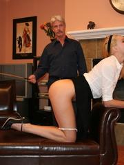 Flashy blonde student gets her tasty ass spanked - XXXonXXX - Pic 6