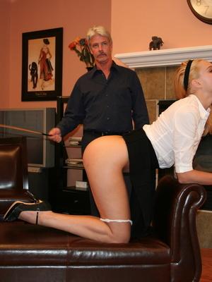 Flashy blonde student gets her tasty ass spanked by teacher. - XXXonXXX - Pic 6