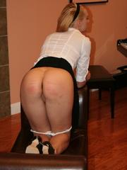Flashy blonde student gets her tasty ass spanked - XXXonXXX - Pic 7