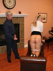 Flashy blonde student gets her tasty ass spanked - XXXonXXX - Pic 10
