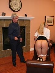 Flashy blonde student gets her tasty ass spanked - XXXonXXX - Pic 11