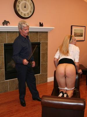 Flashy blonde student gets her tasty ass spanked by teacher. - XXXonXXX - Pic 11
