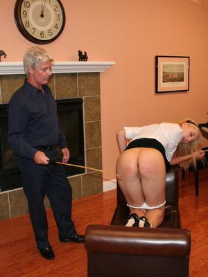 Flashy blonde student gets her tasty ass spanked by teacher. - XXXonXXX - Pic 12