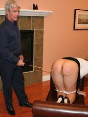Flashy blonde student gets her tasty ass spanked - XXXonXXX - Pic 13