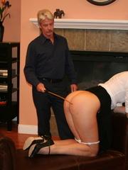 Flashy blonde student gets her tasty ass spanked - XXXonXXX - Pic 14