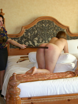 These two curvy milfs get their big booties spanked by a randy black haired milf. - XXXonXXX - Pic 4