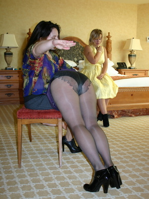 These two curvy milfs get their big booties spanked by a randy black haired milf. - XXXonXXX - Pic 7