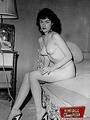 Home made vintage hotties posing in the fifties undressed