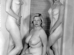 Multiple sexy vintage ladies posing naked - XXX Dessert - Picture 4