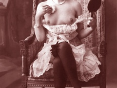 Very horny vintage naked french postcards - XXX Dessert - Picture 6