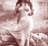 Very horny vintage naked french postcards in the…