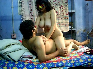 Chubby Indian housewife in a mask gets her bushy pussy screwed with a boner - XXXonXXX - Pic 3