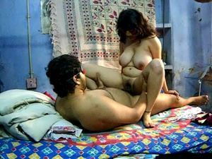 Chubby Indian housewife in a mask gets her bushy pussy screwed with a boner - XXXonXXX - Pic 4