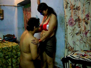 Horny Indian dude pounding hard his wife in a red - XXXonXXX - Pic 1