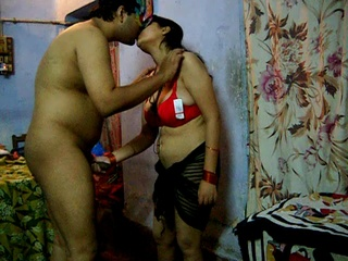 Horny Indian dude pounding hard his wife in a red - XXXonXXX - Pic 2