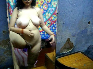 Curvy Indian bitch in a mask and red bra rubbing her itching twat - XXXonXXX - Pic 3