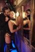Corset wearing blonde slut loves riding his big cock in the nightclub.