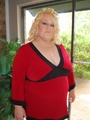 BBW busty blonde housewife Stacy walking - Picture 1