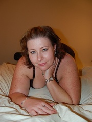 Tattoed bbw milf slowly taking off her undies in front - Picture 8