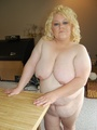 BBW busty blonde housewife Stacy walking - Picture 12