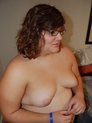 Shy BBW milf Cossette with huge butt exposing her - Picture 3