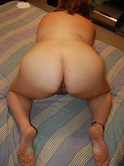Shy BBW milf Cossette with huge butt exposing her - Picture 6