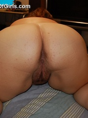 Shy BBW milf Cossette with huge butt exposing her - Picture 7