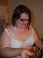 You've hever seen such horny super fat housewife with - Picture 1
