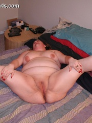 BBW redhead milf gets her pussy licked and drilled by - Picture 9