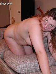 Gagballed chubby housewife gets handcuffed and - Picture 3