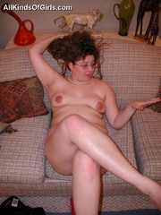 Gagballed chubby housewife gets handcuffed and - Picture 5
