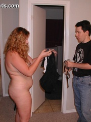 Gagballed chubby housewife gets handcuffed and - Picture 6