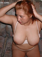 Busty chubby mexican mom Lupe is a real pro in cock - Picture 6
