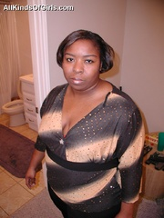 Chubby black mature milf sucking and riding hard white - Picture 1