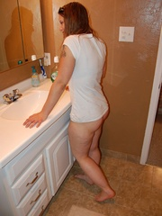 Cute long haired wife pulls down her deep - XXX Dessert - Picture 2