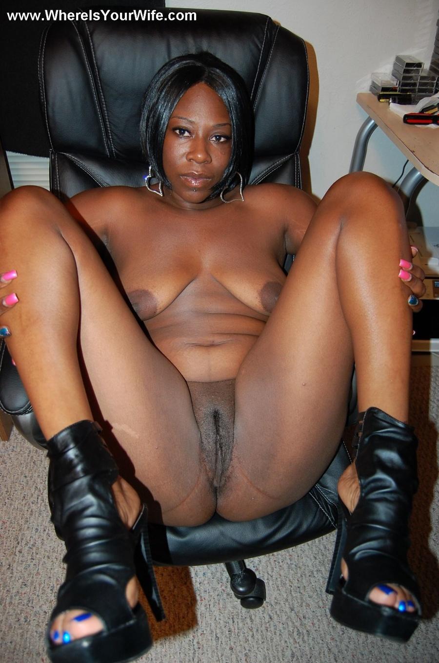 Naked ebony wife