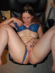 Cute long haired wife pulls down her deep - XXX Dessert - Picture 8