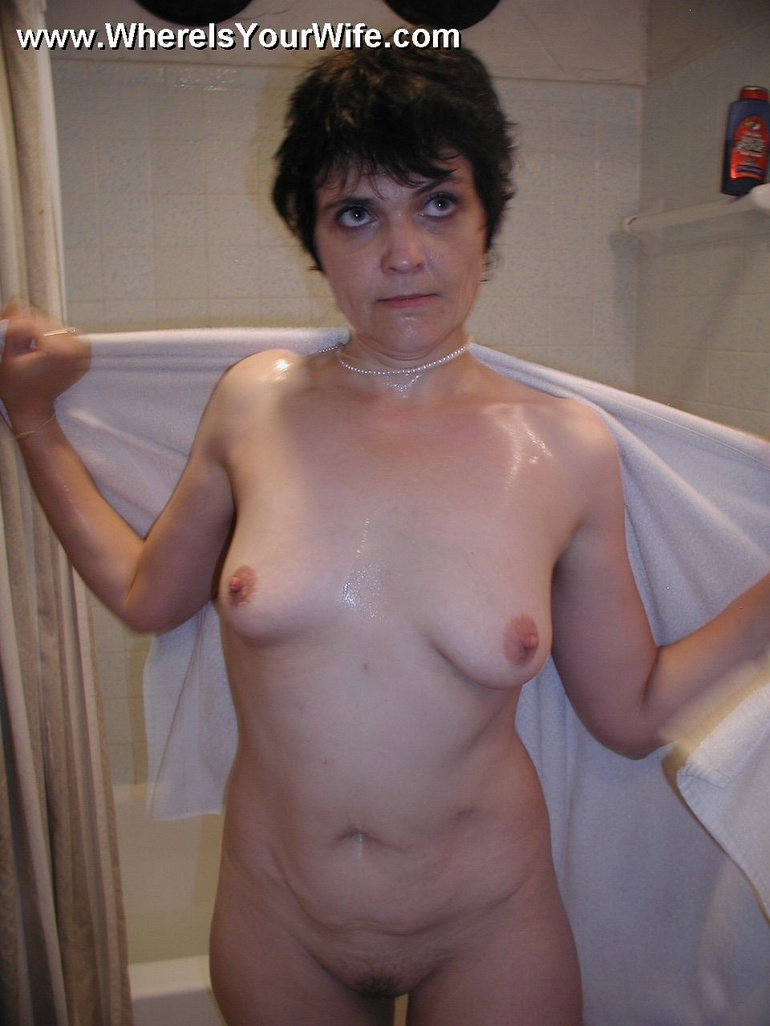 Not Naked older shower moms matchless