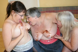 lesbian grannies orgy Hamster orgy, old and young (18+), group  2 weeks ago  08:00 YouPorn milf, orgy, big tits, group  Orgy lesbians granny and babes.