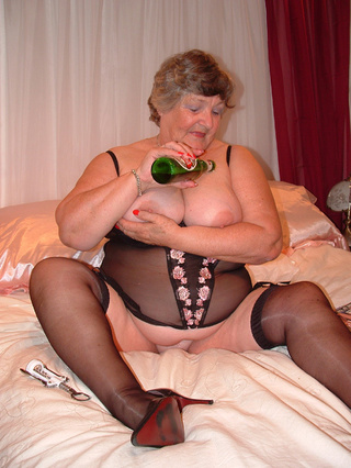 curvy stockings grandma libby