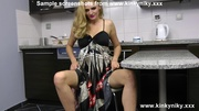 dirty blondie shows gaping