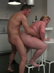 The fat girl has him aroused like he can't believe so he - Picture 12