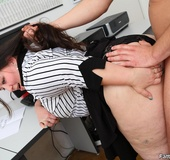 He comes into the office and the BBW puts the…